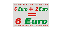 6 + 2= 6€ Calling Card